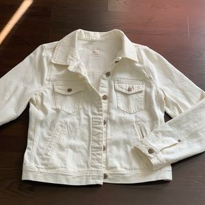 NWOT J Crew White Denim Jacket